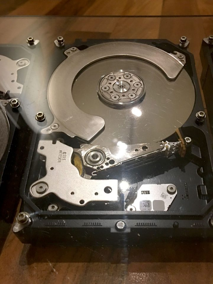 The internal parts of the larger drive, not working as storage but great for upcycled art