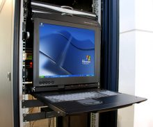A traditional KVM console, which is a more advanced solution but also a way more expensive one