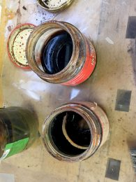 The stuff that stains the wood - naturally