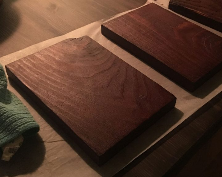 Final and best result of the wood-staining