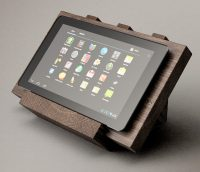 Digital rendered final design of the tablet stand